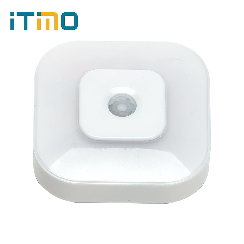 ITimo Control Lighting LED Night Lights Intelligent Lamp For Bedroom Cabinet Corridor Human Body Motion Body Infrared Sensor