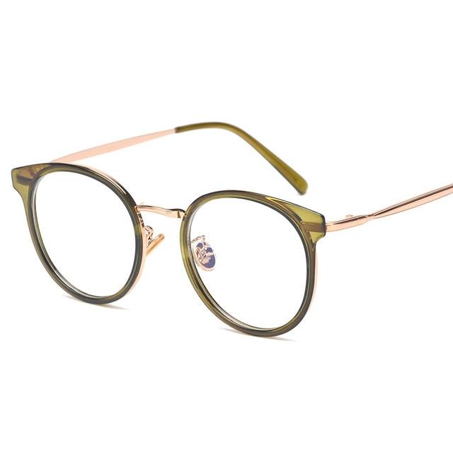 Vazrobe pequeno Retro Óculos Redondos Mulheres Homem Limpar Lente Do  Vintage Óculos Armações de Óculos para 84c405c4ae