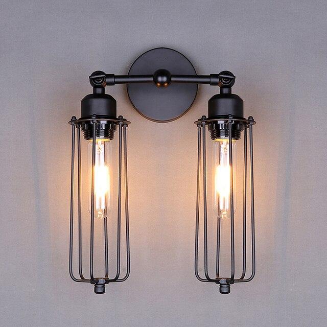 RH Loft Vintage Industria Lustre Dubbele Hoofd Wandkandelaar Lamp ...