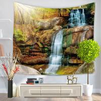 Polyester Tapestry 3D Prited Traditional Chinese Scenic Home Decoration Multifunctional Tapestry Wall Hanging Blanket Tapestries