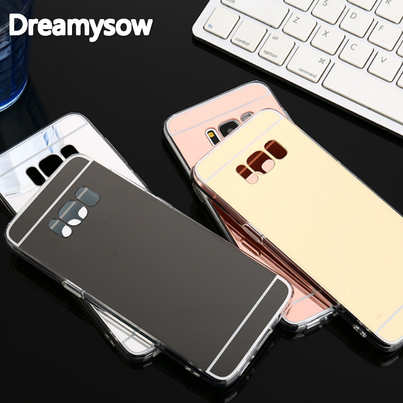 new arrival 7ea9a 2db61 Glitter Mirror Cases For Samsung Galaxy S9 S8 Plus Bling Back Cover For S6  S7 Edge J3 J5 J7 A3 A5 A7 Case