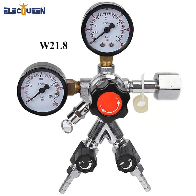 CO2 Dual Gauge Regulator with Y splier and two Checkvalve Homebrew CO2 Regulator 0 3000psi 0
