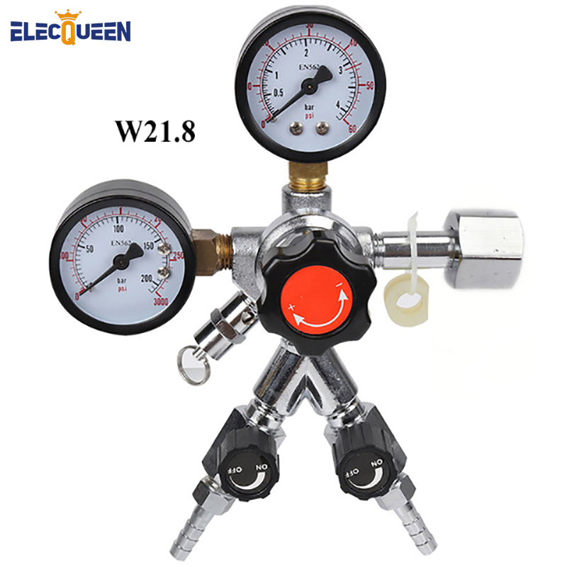 CO2 Dual Gauge Regulator with Y splier and two Checkvalve, Homebrew CO2 Regulator, 0~3000psi, 0~60psi,W21.8-in Other Bar Accessories from Home & Garden    1