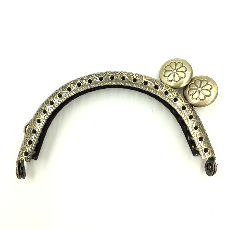 10Pcs Bronze Tone Round Head Flower Pattern Clutch Arc Metal Frame Kiss Clasps Lock Purse Bag Handbag Handle 86x52mm 10pcs bronze tone round head flower pattern clutch arc metal frame kiss clasps lock purse bag handbag handle 86x52mm