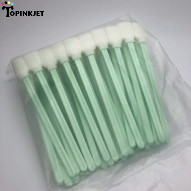 200 pcs Printer Cleaning Swabs Solvent Foam Tipped Cleaning Sponge Sticks swab for Epson Roland Mimaki Mutoh Printer Office & School Supplies