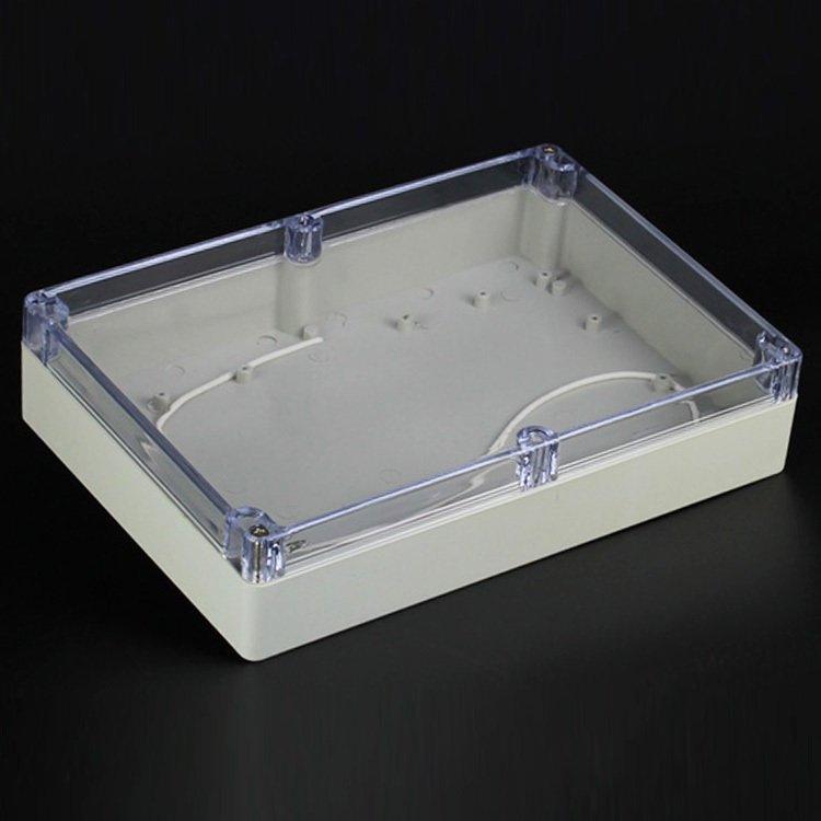 (1 piece/lot) 263*182*60mm Clear ABS Plastic IP65 Waterproof Enclosure PVC Junction Box Electronic Project Instrument Case