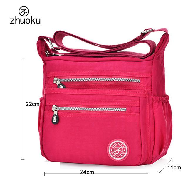 Hot!!2017 women Messenger bags good quality nylon women bag Quick shipment shoulder Bags 11 color free shipping sac a main ZK735