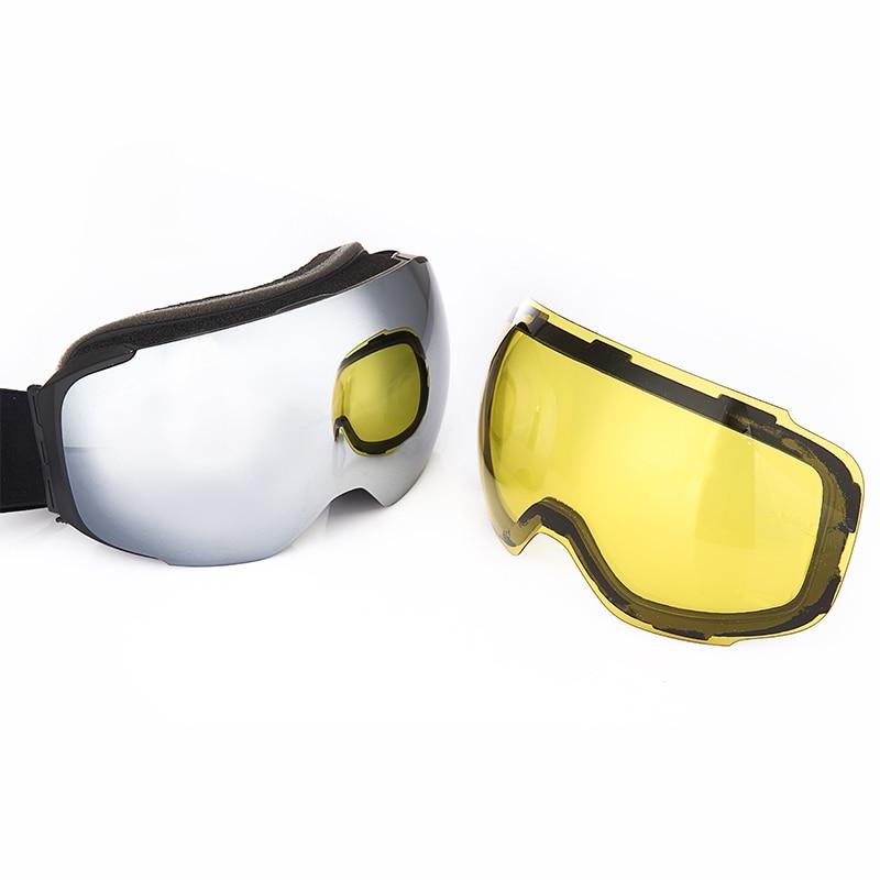 Goggles Snow Ski Snowmobile Mask Dual Layers Lens UV400 Detachable Skiing Anti-fog Eyewear Snowboard Ski Glasses Men Women