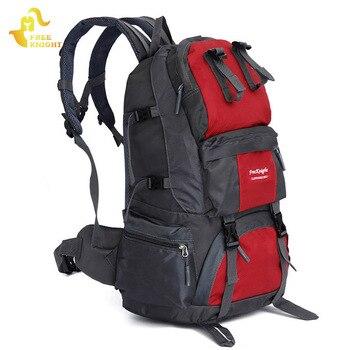Ücretsiz Şövalye 50 L Spor Çantası Büyük Kapasiteli Açık Yürüyüş Sırt Çantaları Kamp Dağcılık Avcılık Çanta seyahat sırt çantası Kadın Erkek