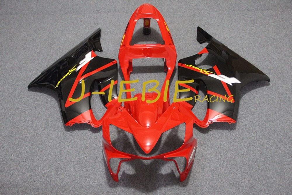 Red black Injection Fairing Body Work Frame Kit for HONDA CBR600 CBR 600 CBR600F F4I 2001 2002 2003