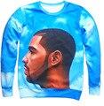 O envio gratuito de hip hop camisolas mulheres/homens Drake Não Era a Mesma impressão 3d hoodies Moda pullover azul mais tamanho S-3XL