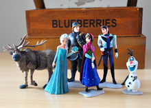 9-12cm 6 sztuk/partia śnieg i lód księżniczka dla dzieci królowa śniegu figurki Kristoff Sven Olaf pcv figurka zabawki lalki prezent na boże narodzenie