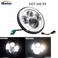 For Harley Road Star Electra Glide Softail Fat Boy Softail 7 Inch LED Headlight for Harley Motorcycle Led Headlight