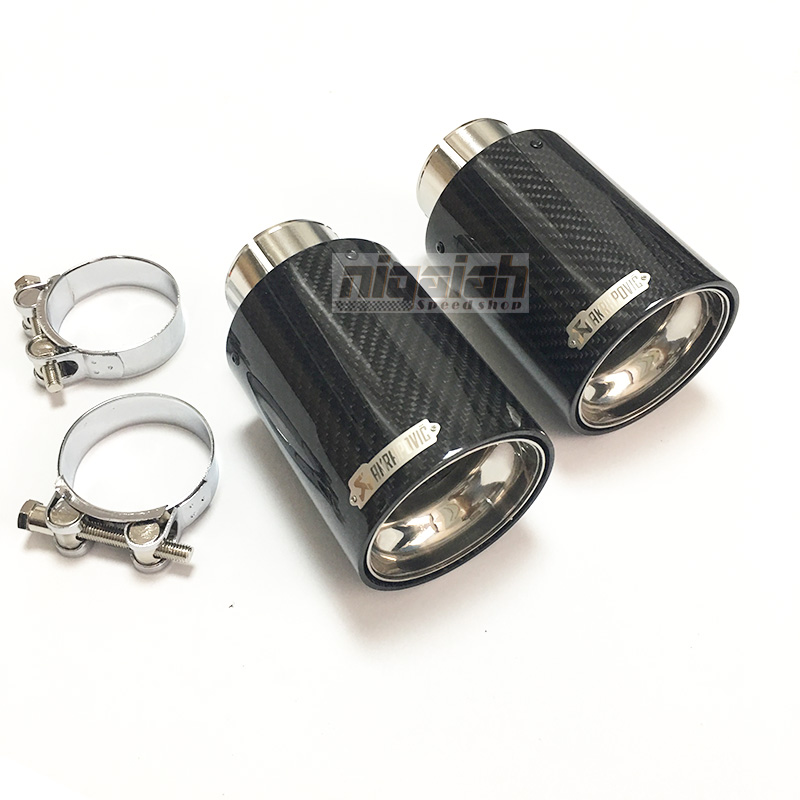 One Piece TOP quality Akrapovice New Car Carbon Fiber Exhaust End Pipe Muffler Tips for BMW