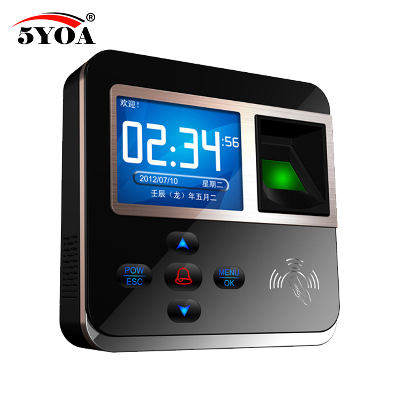 5YOA Fingerprint Password Key Lock Access Control Machine Biometric Electronic Door Lock RFID Reader Scanner System