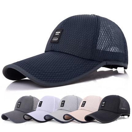 цены 2018 Unisex Sports Cap Mens Womens Casual Cap For Fishing Outdoor Baseball Cap Long Visor Summer Mesh Dad Hat Sunshade Hat Caps
