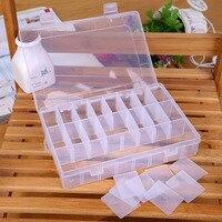 24グリッド透明なプラスチック収納ボックスジュエリービーズコレクションボックスおもちゃゴムバンドヘアピンオーガナイザーディスプレイケース