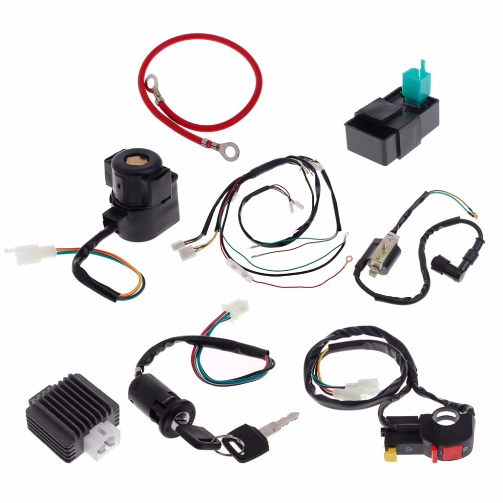 1 Set Electric Wire Wiring Harness Cdi Coil Assembly For 50 110cc Atv Sprayer 125cc Quad Buggy C45 In Motorbike Ingition From Automobiles Motorcycles On