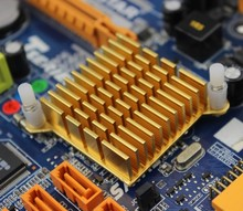 2pcs/lot 40x40x13mm Aluminum Golden Heatsink Radiator for Electronic Chip CPU GPU VGA RAM LED Heat Sink Cooler
