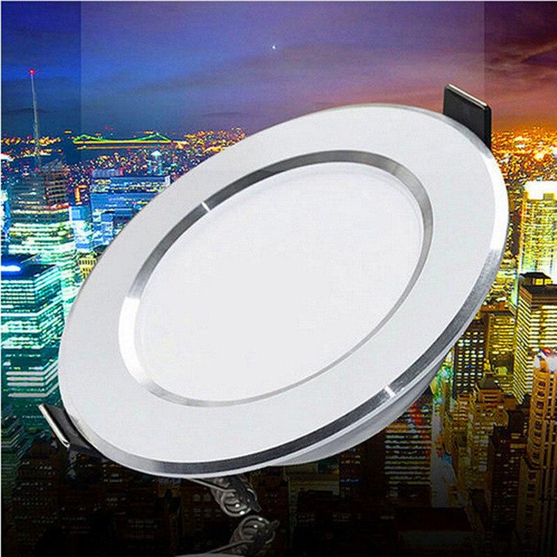 Dimmable Подпушка 10 Вт 15 Вт светодиодный потолочный Подпушка свет Встраиваемые AC110V 240 В Освещение в помещении LED Панель свет прожектор лампы Бел...