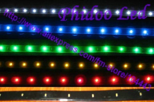 Free Shipping waterproof led strip  car led strip waterproof 30cm 15 LED White Red Yellow Bule Green
