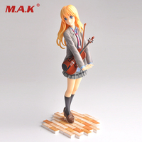New Arrival Action Figure Your Lie In April Kaori Miyazono Cartoon Doll PVC 20cm Box Packed