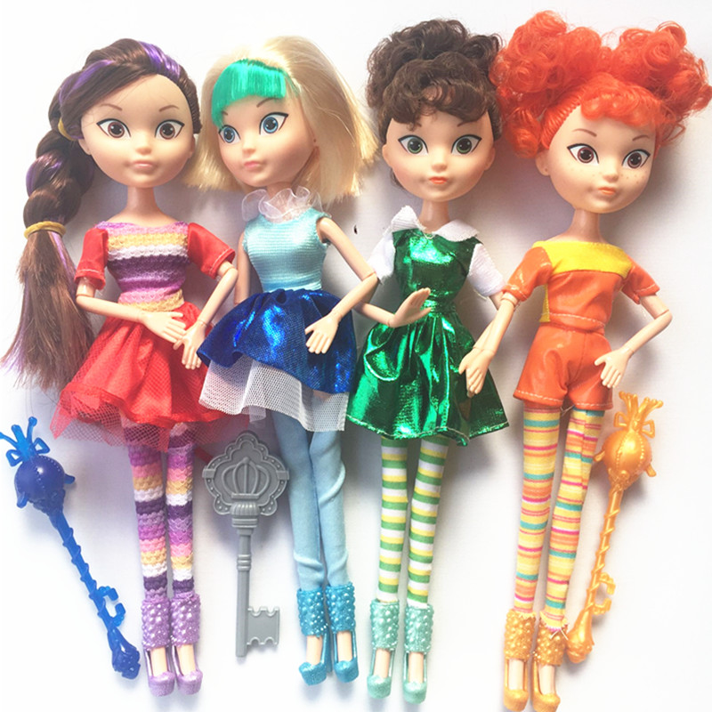 New 4pcs/set 10in Kawaii Cute Princess Doll Fairy Fantasy Patrol Doll Action Figures Toys Model Christmas Birthday Gift For Girl