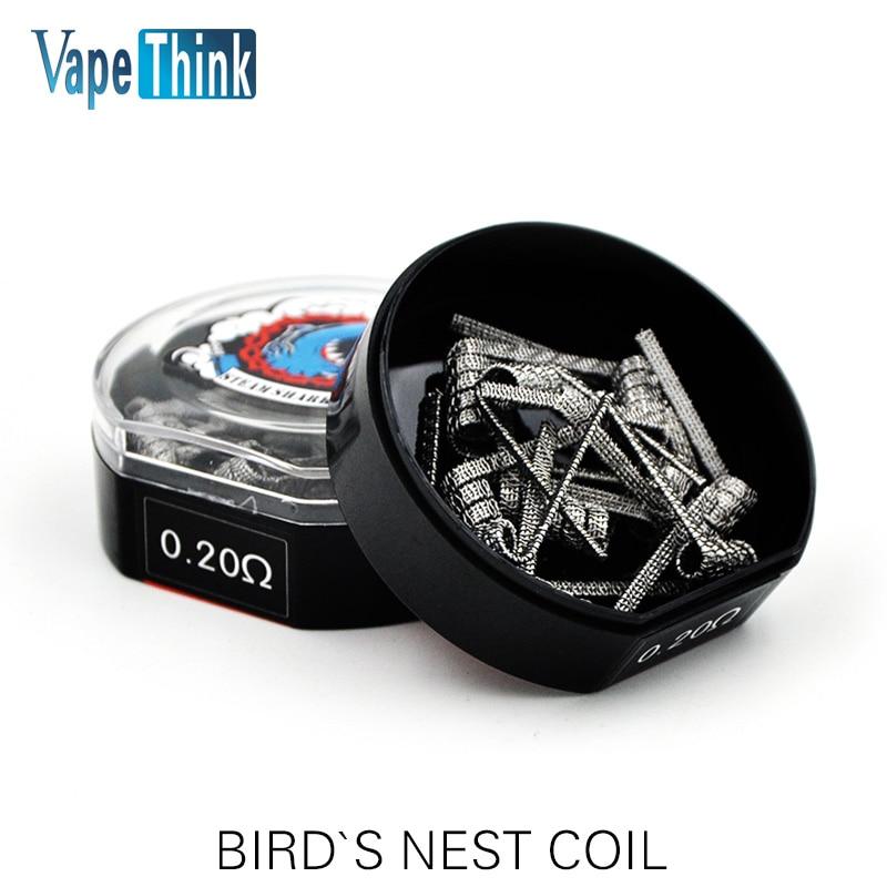 Vapethink Steam Shark Bird`s Nest Coil Heating Wire 24ga 26ga 32ga 0.2 Ohm For DIY Rda Atomizer Vape E Cigarette