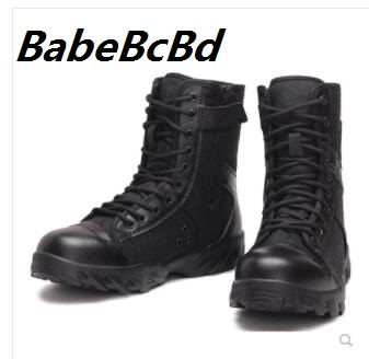 Army boots summer breathable black