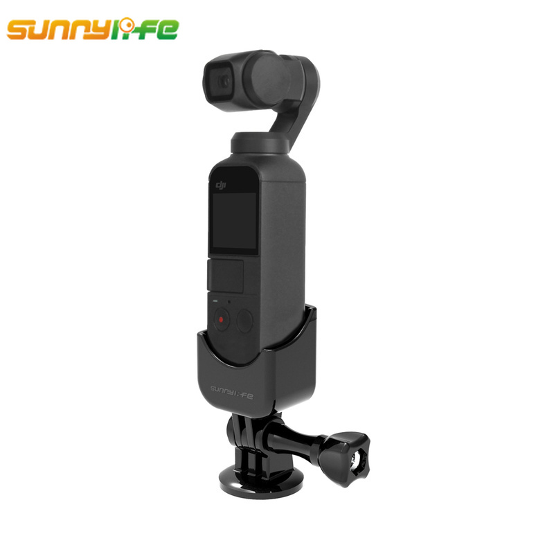 Sunnylife DJI OSMO Pocket Accessories Selfie Stick Aapter Base Mount OSMO Pocket Tripod Holder for Gopro Action Camera Mounting pocket tripod pro