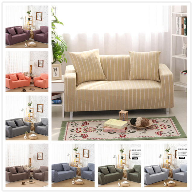 Universal Elastic Cotton Knitted Sofa Covers Stretch Slipcover Single Two Three Four