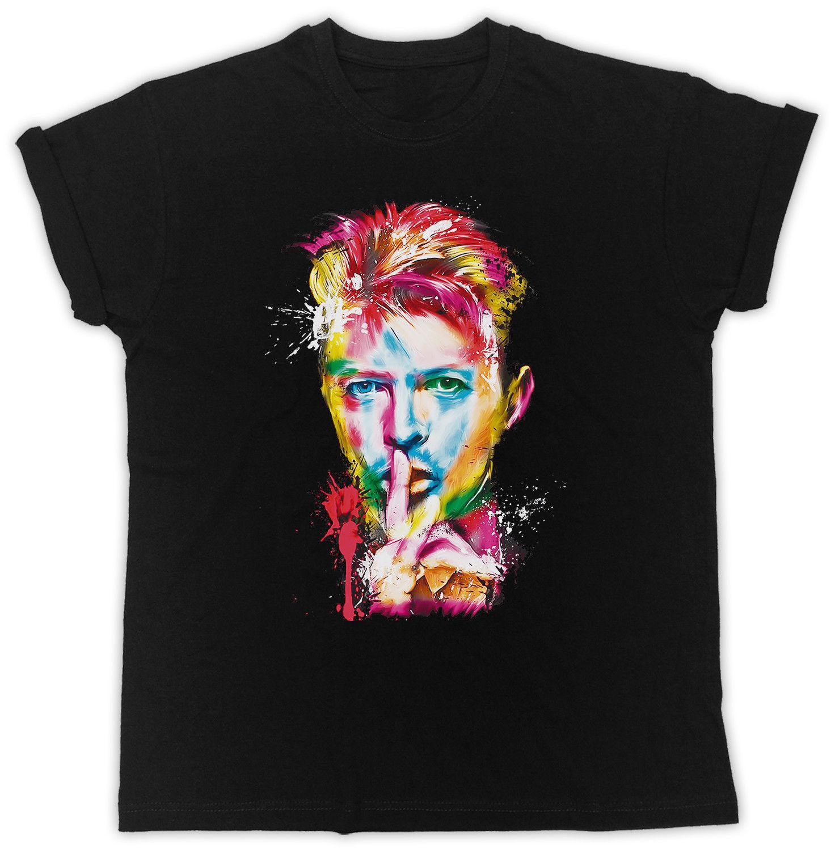 2019 New Summer Style Fashion T-shirt DAVID BOWIE T Shirt SHHH COLOURFUL EYES MUSIC Mens Womens Tshirt Tribute Tee