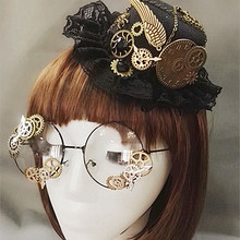 Novelties Steampunk Victorian Gears Mini Top Hat Costume Hair Accessor