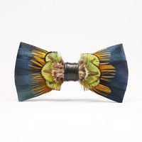 Feather bow tie High quality butterfly ties for men accessories men's ties business classic bowtie cravate pour homme Wooden box