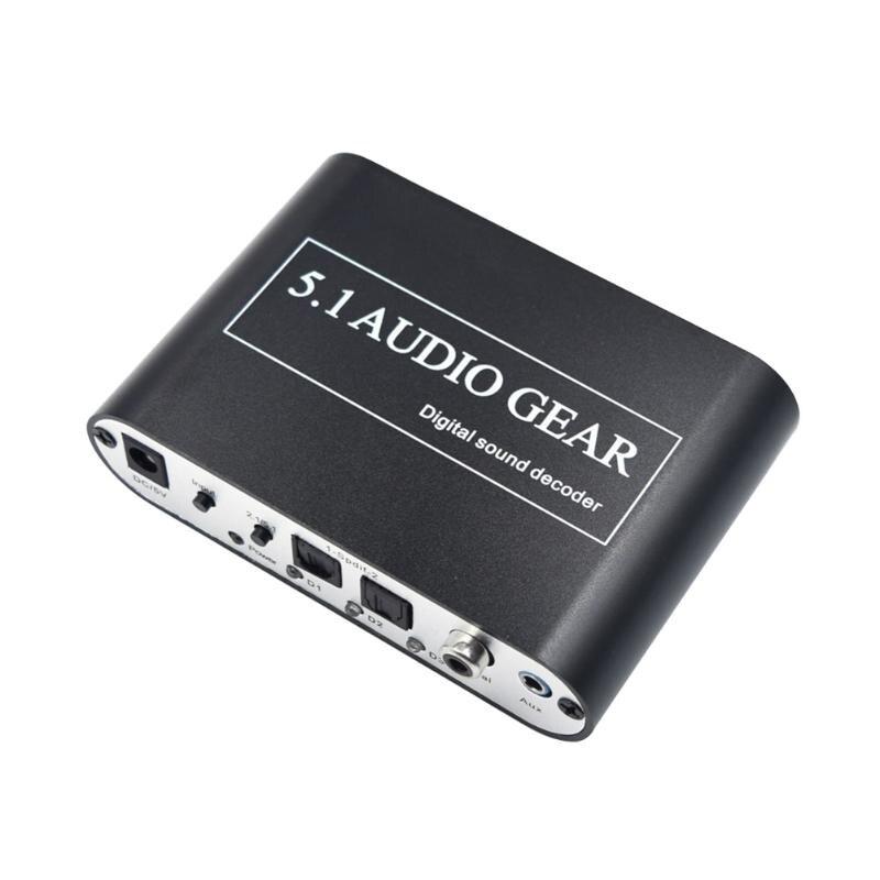 ALLOET Digital Audio Decoder 5,1 Audio Getriebe DTS/AC3/6CH Digital Audio Konverter LPCM Zu 5,1 Analog Ausgang 2,1 DVD PC für PS2 PS3