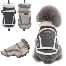 2019 Nordic Gray and dirty winter plush warm jacket pet autumn coat dog clothing 1pcs