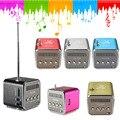 Racahoo fm radio portátil multifunción micro usb teléfono móvil de radio reproductor de música de altavoces de vibración con led soporte de tarjetas sd/tf