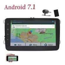 Android 7.1 8 inch 2 Din Car Stereo for Volkswagen with Radio Receiver GPS Navigation Bluetooth WiFi Canbus Free Backup Camera