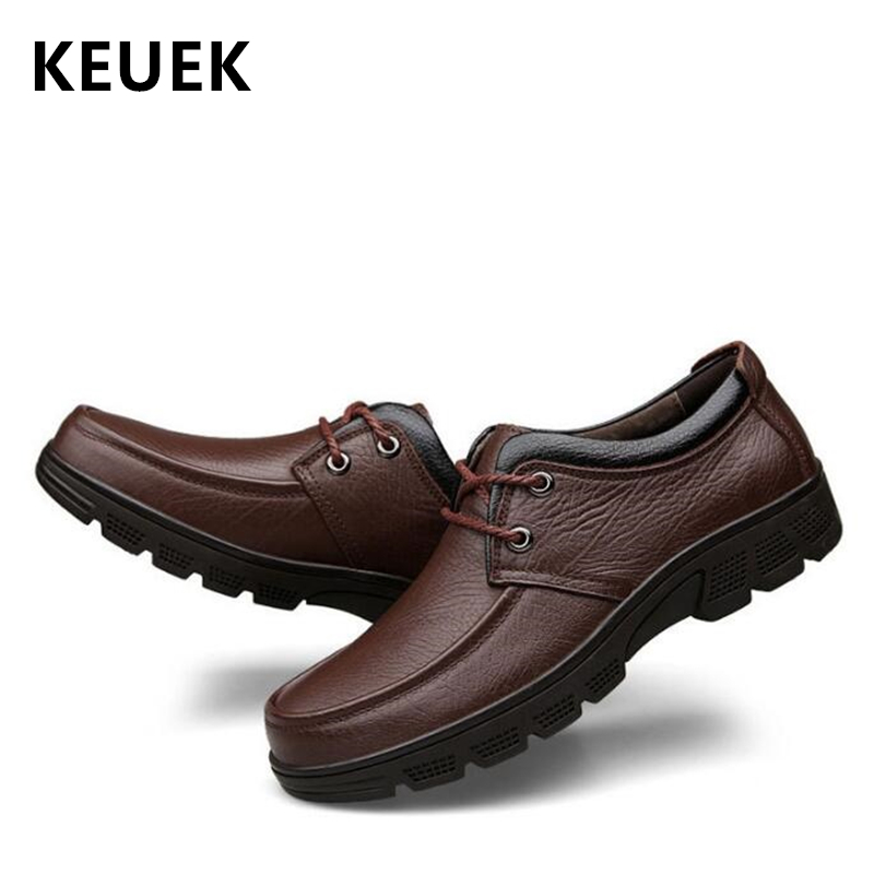 New Arrival Spring Autumn Men Dress shoes Genuine leather Round Toe Casual Business leather shoes Male Flats Large size 02ANew Arrival Spring Autumn Men Dress shoes Genuine leather Round Toe Casual Business leather shoes Male Flats Large size 02A