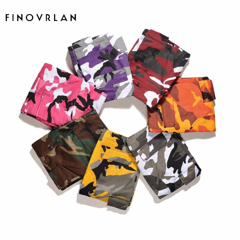 Orange Pink Camouflage Cargo Pants Men Women 2017 High Quality Hip Hop Streetwear Joggers Pants Couple Camo Sweatpants Clothes rothco 迷彩 褲 穿 搭