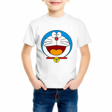 Harajuku Japanese Tee Shirt Children's Cartoon Doraemon T shirt boy and girl  2018 Summer O-neck Short Sleeve Tops Tees C10-6