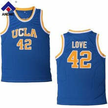 ea69c1a529c1 andme Mens Kevin Love UCLA Bruins College Basketball Jersey 42 Blue  Throwback