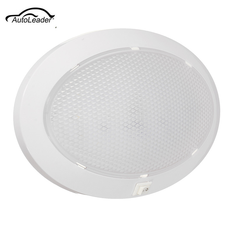 1Pcs 4.2W LED Dome Light Car Interior Light Circular Crystal Roof Ceiling Light for Caravan/RV/Car r407c r410a electric compressor for srv camping car caravan roof top mounted travelling truck ac