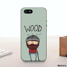 Silicone case Unique Luxury Silicon phone case For iPhone 5 5s 6 6plus 7 7plus Wood You Be Mine cartoon