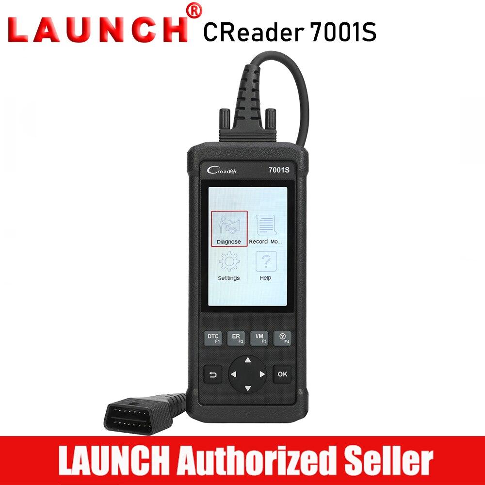 Lancio Creader 7001 S Lettore di Codice CR7001S Scanner Completa OBDII EOBD Funzioni di Diagnostica Strumento di ABS SRS EPB Luce di Servizio Dell'olio ripristina