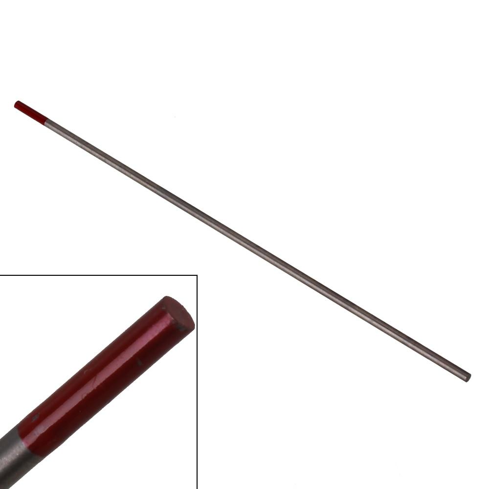 10pcs WT20 Red TIG Welding Tungsten Electrode 2% Thoriared Replace 4.8x 150mm wt20 tig welding tungsten electrode 2
