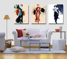 3 Peças Pintura Imagem Design De Moda Pintura 03 Na Pintura A óleo Da Lona  Para A Decoração Da Casa E Arte Da Parede Poster Part 93