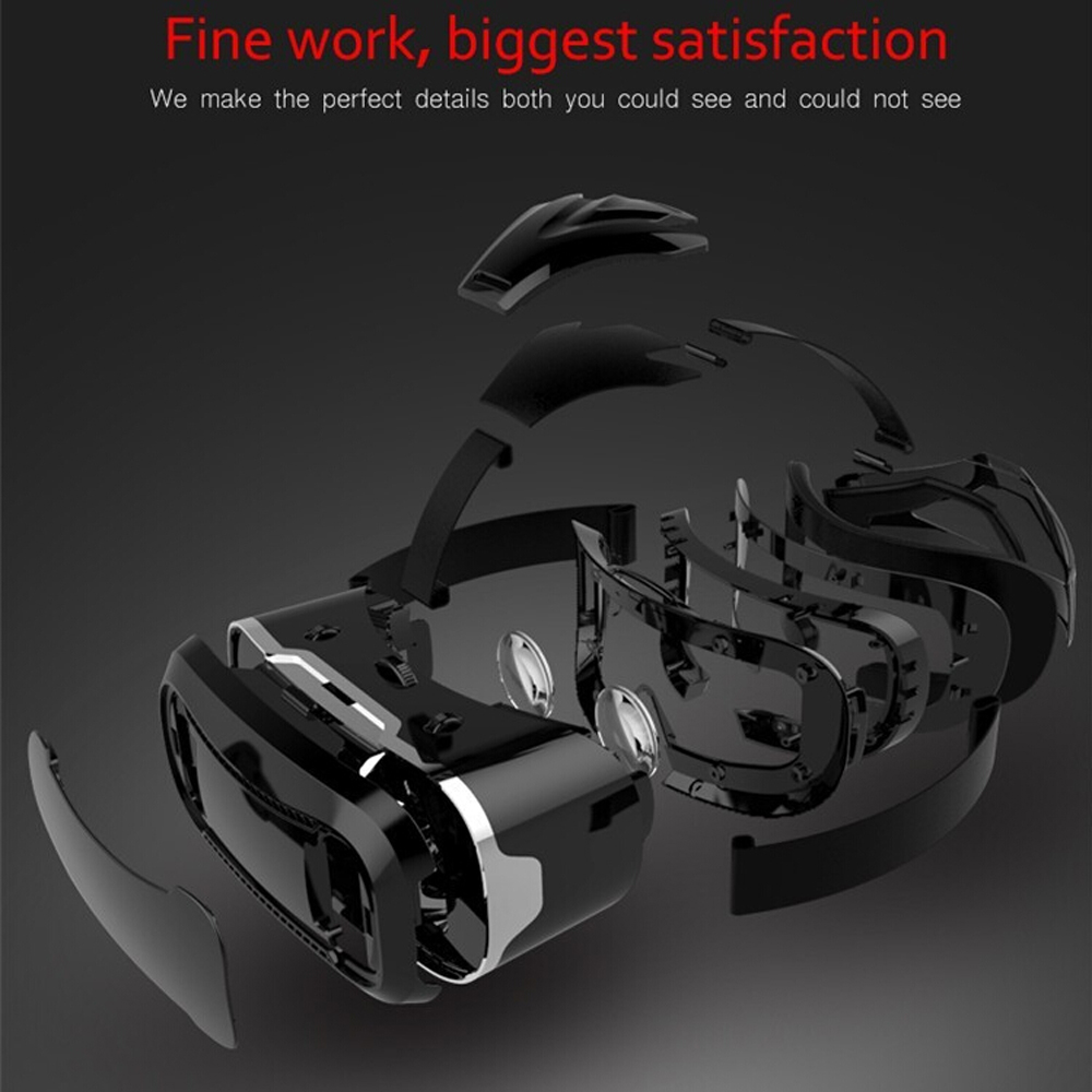 VR Shinecon 2.0 2 VR Casque Headset Video 3 D 3D Virtual Reality Glasses Goggle For iPhone Android Smartphone Helmet Smart Phone 1
