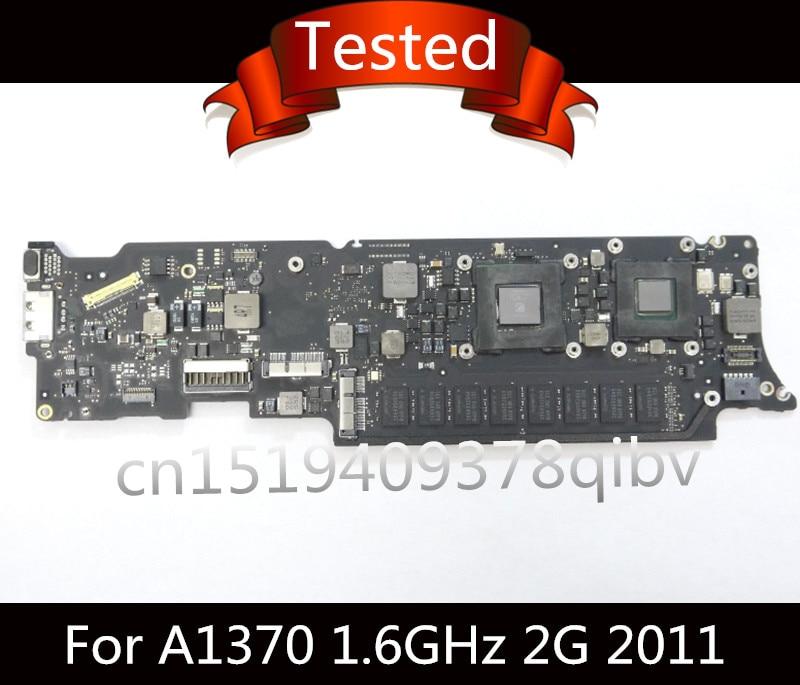 Натуральная тестирование материнской платы i5 1.6 ГГц 2 ГБ Оперативная память i5 1.3 ГГц 4 г для Macbook Air 11 A1370 2011 820 3024 b материнскую плату A1465 2013 2014