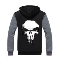 2017 herren hoodie Winter Punisher Super hero hoodie thichen fleece winter mantel US EU Plus Größe mens fashion jacke top